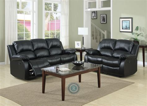 Reclining Living Room Set by Cranley Black Reclining Living Room Set From Homelegance