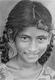 Girl Portrait Pencil Drawing