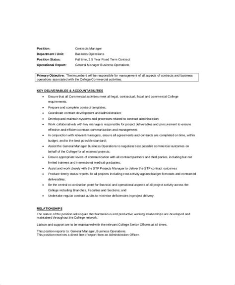 plant manager job description sample  examples  word