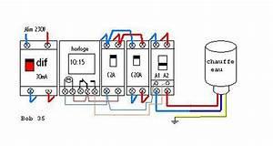 Raccordement Electrique Chauffe Eau : brancher horloge chauffe eau raccordement lectriques ~ Nature-et-papiers.com Idées de Décoration