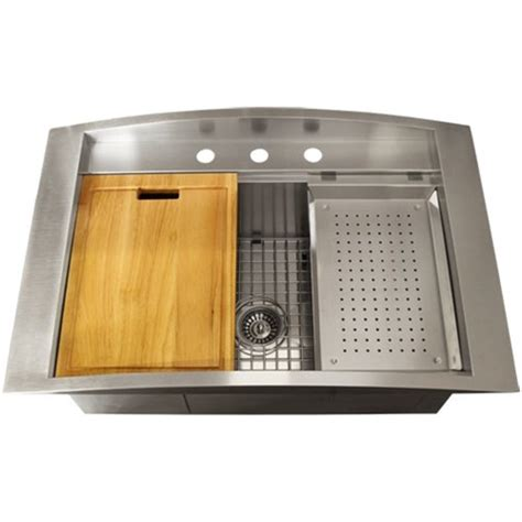 overmount kitchen sinks stainless steel ticor sinks ticor overmount 16 stainless steel