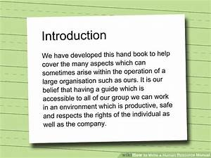 How To Write A Human Resource Manual  10 Steps  With Pictures