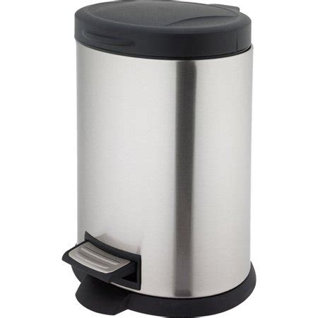 walmart kitchen garbage cans better homes and gardens 5 liter oval step trash can