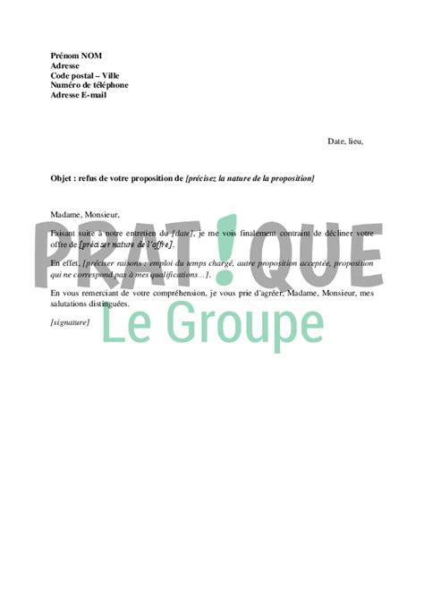 modele contrat pour prestation musicale lettre de refus d une proposition pratique fr