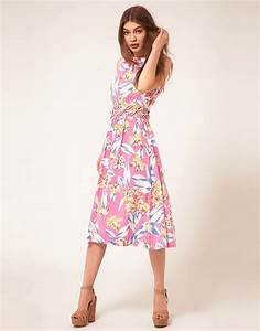 asos asos robe d39ete mi longue avec fleurs decoupees a With robe d été mi longue