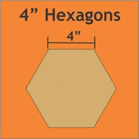 4 Inch Paper Pieces Hexagons Pack Of 16 Templates