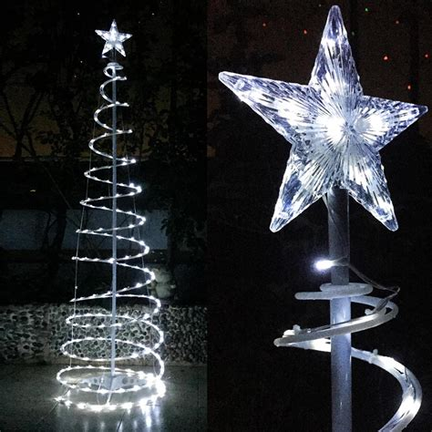 6 led spiral tree light home in outdoor store cafe bar