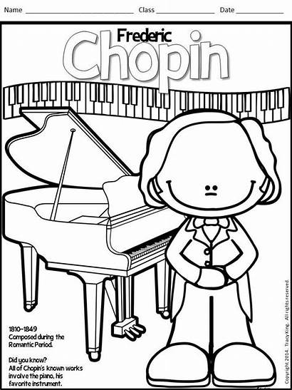 Coloring Sheets Composers Meet Class Board Lady