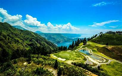 Indonesia Sumatra Nature Places Landscape Amazing Toba