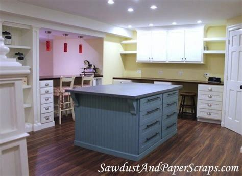 Craft Room With Builtins Galore!  Sawdust Girl®