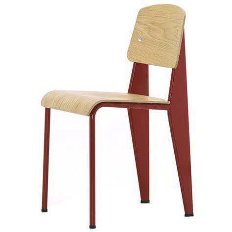 chaise jean prouvé prouvé standard chair frame w oak vitra