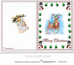 Biglietti di Natale da stampare gratis per auguri di Buon ...