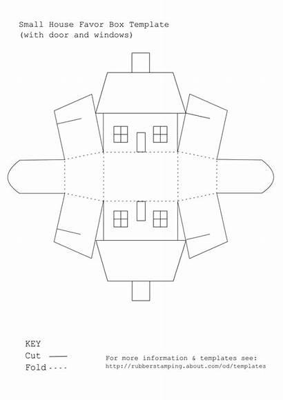 Template Printable Box Templates Paper Favor 3d
