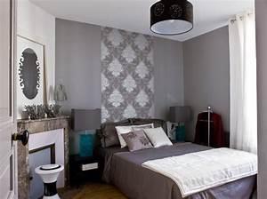 deco chambre gris blanc mauve With deco chambre gris blanc