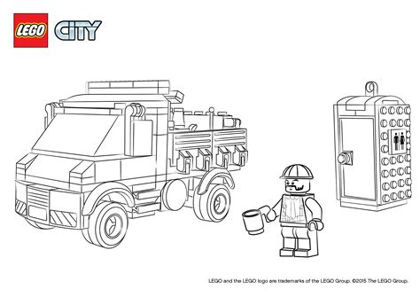 service truck coloring pages lego city lego
