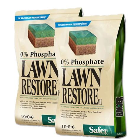 lawn fertilizer brands 2 bags ringer 174 lawn restore 174 ii fertilizer 25 lb 3684