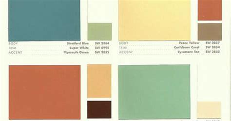 sherwin williams color preservation palettes retro 1950 s