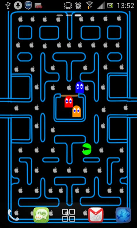 pac man game  wallpaper apk   android
