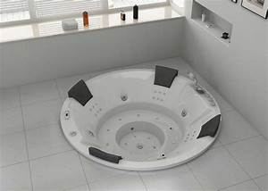 Baignoire A Bulle : baignoire baln o ronde encastrable family 44 jets ~ Melissatoandfro.com Idées de Décoration