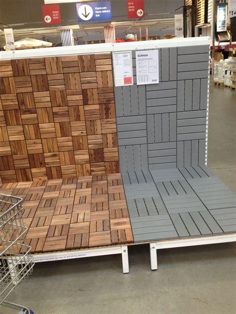 ikea deck tiles patio pick   pinterest decking