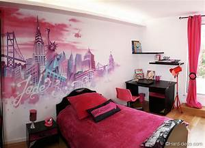 chambre rose new york hard deco With chambre ado new york fille