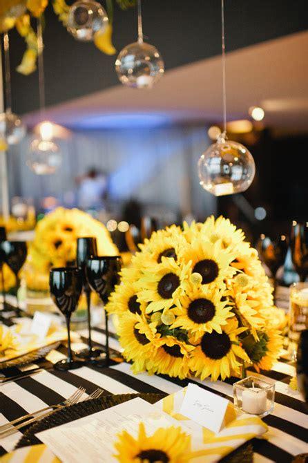 Black and Yellow Sunflower Wedding