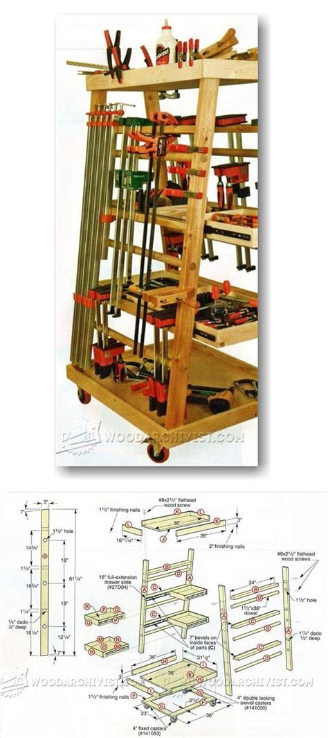 mobile clamp rack plans workshop solutions projects