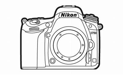 Nikon Camera Clipart Camara Cliparts Colorear Transparent