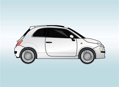 Fiat 500c Backgrounds by Fiat Car Vector