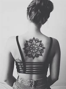Brilliant Neck Back Mandala Tattoo For Girl ...