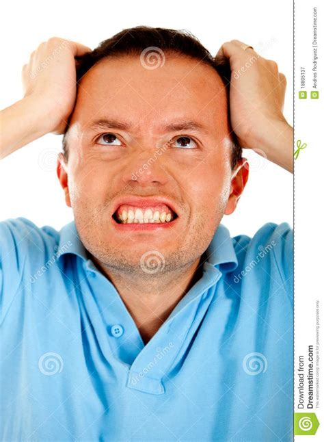 Angry man stock image. Image of male, fuming, grabbing - 18805137