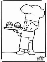 Baker Coloring Boulanger Coloriage Printable Template Funnycoloring Imprimer Jobs Advertisement sketch template