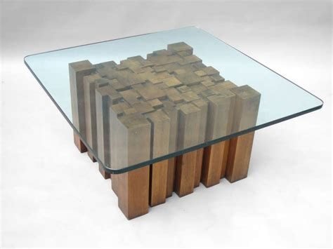 Lovely long coffee table design. Wood Coffee Table With Glass Top