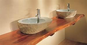 plan de travail salle de bain bois cuisine naturelle With plan de travail en bois pour salle de bain