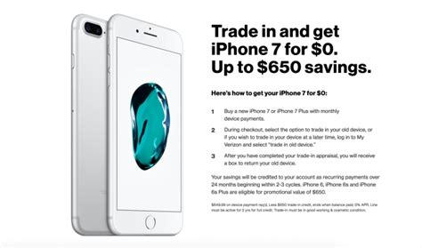 iphone trade in att at t and verizon launch free iphone 7 with trade in promos