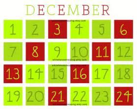 printable calendar countdown calendar template