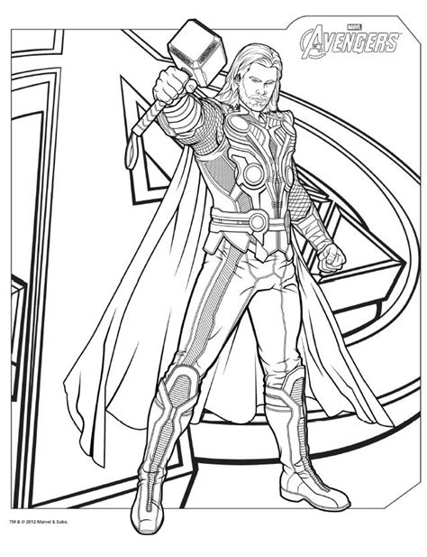 download avengers coloring pages here thor avengers