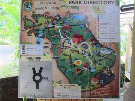 map picture  bali safari marine park