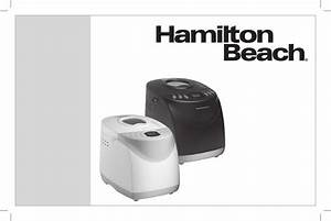 Hamilton Beach Bread Maker User Manual