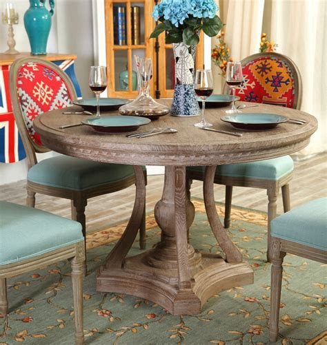 Modern contemporary round wooden dining tables , kitchen