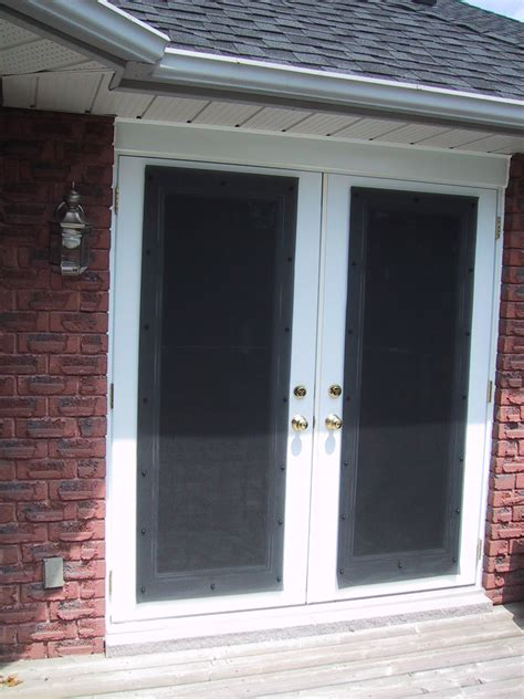 french doors exterior screen video and photos