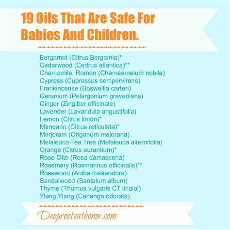 Safe Essential Oils For Children Babies Deep Roots At Home