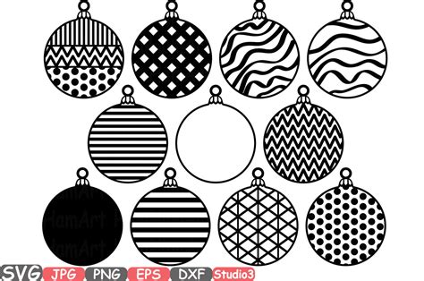 All designs are welded or grouped for easier handling. Christmas Balls & bells SVG Silhouette Cutting Files ...
