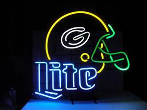 Wiki Neon Sign Blog Miller Lite NFL GREEN BAY PACKERS