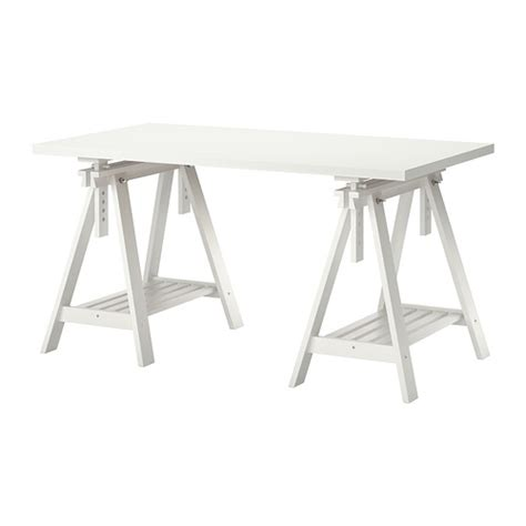 bureau d architecte ikea linnmon finnvard table blanc ikea