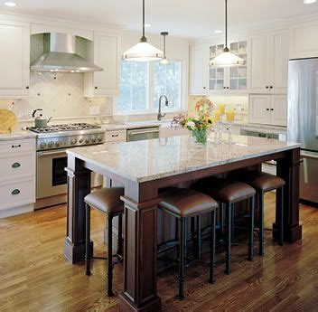 large kitchen islands  seating   option