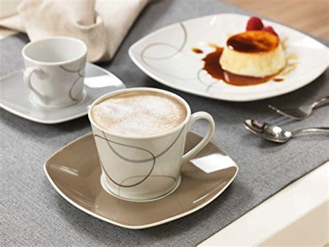 kombiservice alina marron 60 teile geschirrset kaffeeservice und tafelservice porzellan f 252 r 12