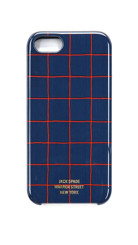spade iphone spade grid iphone 5 in blue for lyst