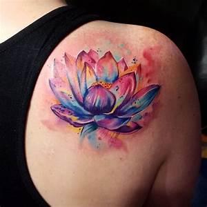 24 best Lotus Flower Shoulder Tattoos For Women images on ...