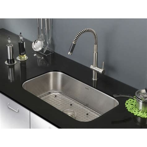 Stainless Undermount Kitchen Sink by Ruvati Rvm4250 Parmi Undermount 16 30 Inch Kitchen